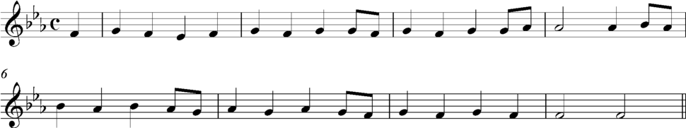 Subsidiary theme from the first movement of beethoven's Piano Conxcert No. 5 (Emperor)