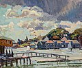 Summer Storm, Boothbay Harbor by George Oberteuffer.jpg
