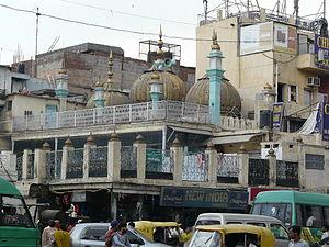 Sunehri Masjid (Chandni Chowk) - Sunehri Masjid at Chandni Chowk, old Delhi