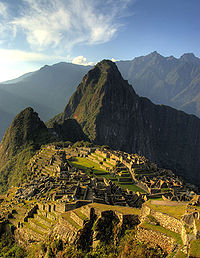 Sunset across Machu Picchu
