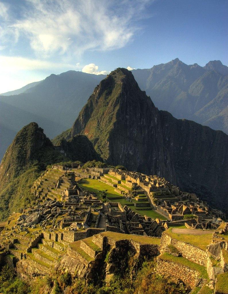 Sunset across Machu Picchu