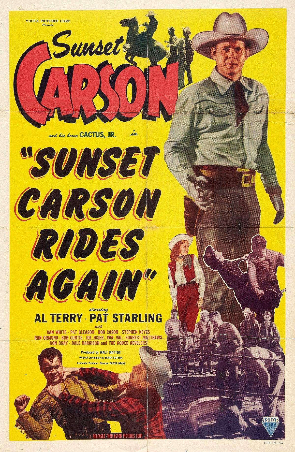 sunset carson rides again wikipedia