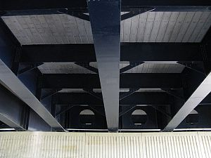 Surtees Bridge - Under the western span of the Surtees Bridge