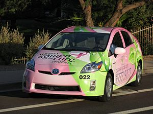 Clean Air Cab - Portions of fares in the Susan G. Komen cab are donated to Susan G. Komen for the Cure.