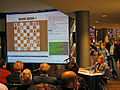 Susan Polgar at Chess Olympiad public game analysis 2008-11-15.jpg