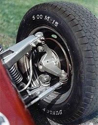 Part of steering mechanism: tie rod, steering arm, king pin.