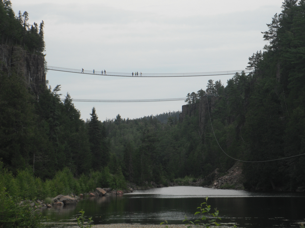 Suspension bridges at Eagle Canyon, Ontario, Canada