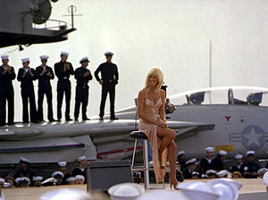 Suzanne Somers USS Ranger with F-14 Background.jpg