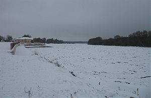 Gomel Region - The frozen Biarezina River in Svietlahorsk.