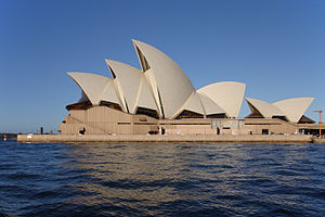 Sydney Opera House viewed from the side
