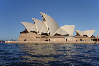 Peter Rice - Sydney Opera House, completed in 1973 and made UNESCO World Heritage Site in 2009.