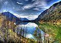 Sylvenstein See, Blick von der Fallerklamm Brücke *HDRI* (8499805905).jpg