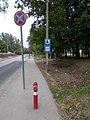 Tűzoltócsap, Kresz táblák, Széchenyi tér, Bethlen Gábor utca, 2020 Érd.jpg