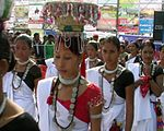 Tharu women in traditional dress