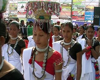 Tharu people - Tharu women in traditional dress
