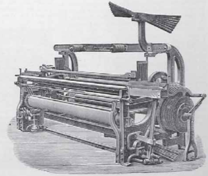 Fustian - A loom used to manufacture fustian.