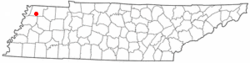 Location of Obion, Tennessee