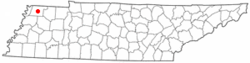 Location of Troy, Tennessee