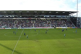 Veritas Stadion is situated in the district of Kupittaa, in an area dedicated to sporting venues.