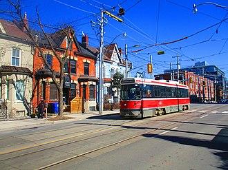 Corktown, Toronto - View of Corktown from King Street East, near Sumach Street