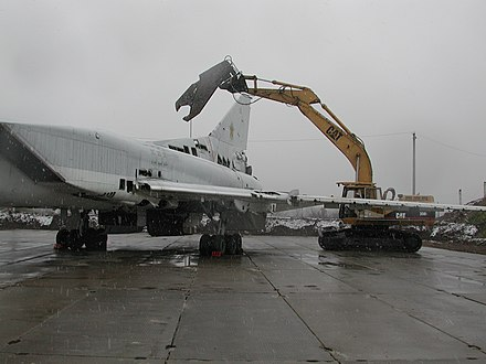 A Ukrainian Tu-22M is dismantled through assistance provided by the Cooperative Threat Reduction Program implemented by the Defense Threat Reduction Agency, 2002 - Armed Forces of Ukraine