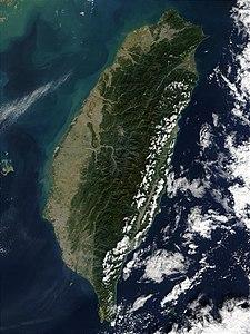 Satellitenfoto Taiwans