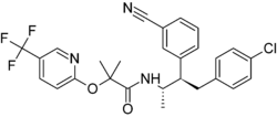 Skeletal formula of taranabant