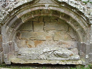 Fearn Abbey - Tomb of abbot Fionnlagh II (Finlay McFaed).