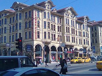 "Mimar Kemaleddin - Tayyare Apartments, today the ""Crowne Plaza Hotel Istanbul Old City"", designed by Mimar Kemalettin Bey."