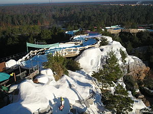 Disney's Blizzard Beach - An overview of Teamboat Springs.