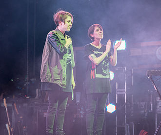 Tegan and Sara - Tegan and Sara post-concert at 2014 Hillside Festival