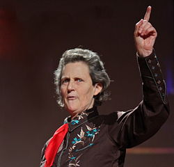 Temple Grandin during a TED conference in February 2010