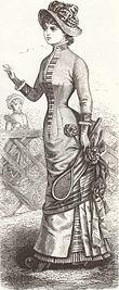 Una tennista nel 1881