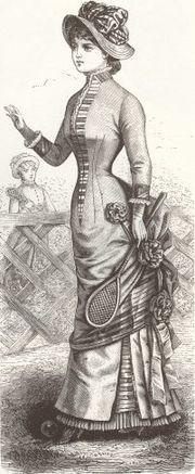Joueuse de tennis en 1881