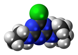 Terbuthylazine - Image: Terbuthylazine 3D spacefill