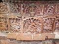 Terracotta works on the walls of Brindaban Chandra's temple.jpg