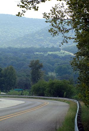English: Texas Hill Country, Route 187 heading...