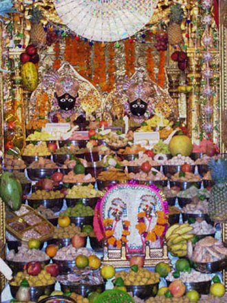 Prasāda - Thaal offered to Nar Narayan at a Swaminarayan temple in Ahmedabad