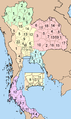 Thailand provinces six regions.png
