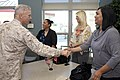 The 35th Commandant and first lady of the Marine Corps, Gen. James F. Amos, left, visits with families of the Wounded Warrior Battalion at the Hope and Care Center atMarine Corps Air Station Camp Pendleton, CA 130417-M-LU710-146.jpg