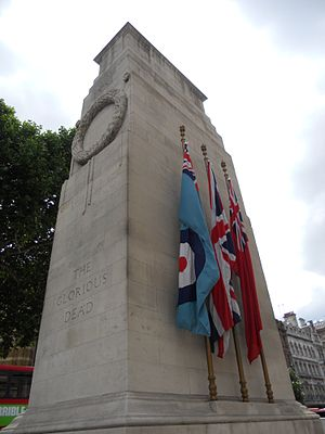 British ensign - Image: The Cenotaph, Whitehall, London (14 July 2011) 2