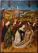 The Deposition by Maestro Bartolomé or workshop, 1480-1488, oil on panel - University of Arizona Museum of Art - University of Arizona - Tucson, AZ - DSC08390.jpg