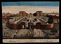 The Foundling Hospital, Holborn, London; a bird's-eye view o Wellcome V0013445.jpg