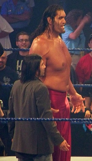 The Great Khali - Khali was accompanied by his translator and manager Ranjin Singh