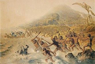 John Williams (missionary) - Massacre of John Williams and Mr. Harris, 1839