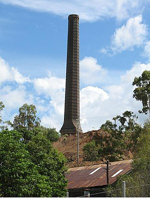 Mount Morgan Mine - Mount Morgan Mine Stack, 2010