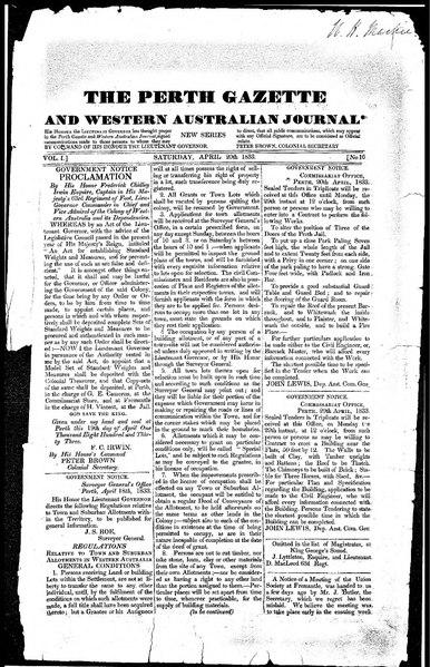 File:The Perth Gazette and Western Australian Journal 1(16).djvu
