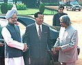 The President, Dr. A. P. J. Abdul Kalam and the Prime Minister, Dr. Manmohan Singh with the Senior General Mr. Than Shwe.jpg