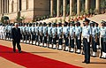 The President of Palestine, Mr. Mahmoud Abbas inspecting the guard of honour at the ceremonial reception, at Rashtrapati Bhavan, in New Delhi on October 07, 2008.jpg