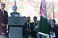 The Prime Minister, Dr. Manmohan Singh speaking at the laying of the foundation stone for the construction of Parliament of Afghanistan in Kabul on August 29, 2005.jpg